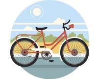 Vélo sur la rue Photographie stock