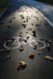 Vélo sur le trottoir Image libre de droits