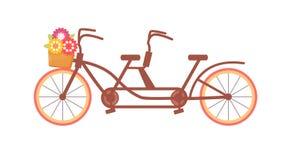 Vélo tandem Vecteur cartoon illustration de vecteur