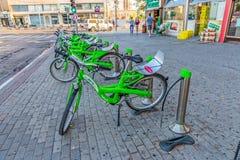 Vélo Tel Aviv de ville photos libres de droits