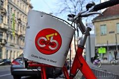 Vélo Vienne de ville image stock