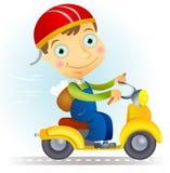 Vélomoteur Illustration Libre de Droits