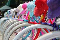 Vélos colorés Jakarta Photographie stock libre de droits