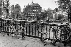 Vélos d'Amsterdam Photographie stock libre de droits