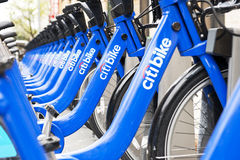 Vélos de citi de New York Photo libre de droits