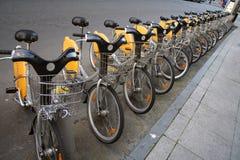 Vélos de location Photo libre de droits