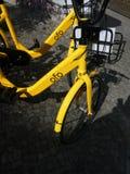 Vélos de société d'Ofo images stock