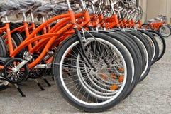 Vélos de ville Photographie stock