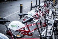 Vélos de ville d'Ecobici à Mexico Photographie stock