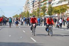 Vélos espagnols de Croix-Rouge photos stock