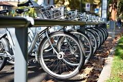 Vélos pour le loyer Image stock