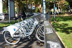 Vélos pour le loyer Photographie stock libre de droits