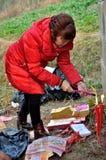 Vénération d'ancêtre en Chine photos libres de droits