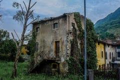 Véneto constructivo abandonado Italia Fotos de archivo libres de regalías