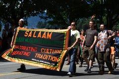 Vénia: A comunidade muçulmana estranha, parada do orgulho Fotos de Stock