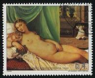 Vénus d'Urbino par Titian Photos stock