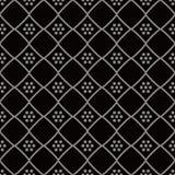 Vérification des antécédents sans couture antique Diamond Cross Frame Dot Flower illustration de vecteur