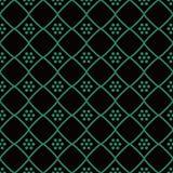 Vérification des antécédents sans couture antique Diamond Cross Frame Dot Flower Images stock