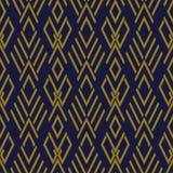 Vérification des antécédents sans couture antique Diamond Cross Geometry Frame illustration stock