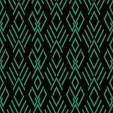 Vérification des antécédents sans couture antique Diamond Cross Geometry Frame Photographie stock libre de droits
