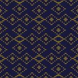 Vérification des antécédents sans couture antique Diamond Cross Line Frame Image libre de droits