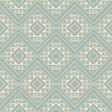 Vérification des antécédents sans couture antique Diamond Spiral Cross Frame Dot Photographie stock libre de droits