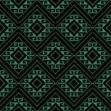 Vérification des antécédents sans couture antique Diamond Spiral Cross Frame Dot illustration stock