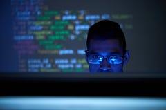 Vérification du code de programmation photos stock