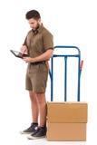 Vérification du programme de livraison Photo libre de droits
