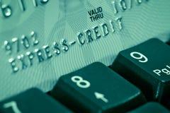 Vérification par la carte de crédit Images libres de droits