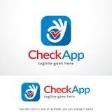 Vérifiez APP Logo Template Design Vector, emblème, concept de construction, symbole créatif, icône Photographie stock libre de droits