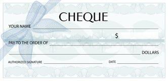 Vérifiez le chèque, calibre de chéquier Modèle de guilloche avec le filigrane, spirograph Image stock