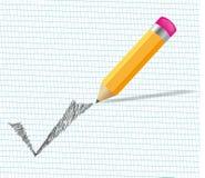 Vérifiez le crayon Image libre de droits