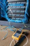 Vérifiez le système de connexion réseau Photo libre de droits