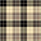 Vérifiez le textil beige noir de tissu images stock