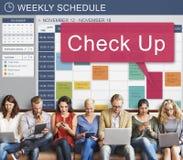 Vérifiez vers le haut du concept d'entretien d'examen de soins de santé et de médecine Photos stock