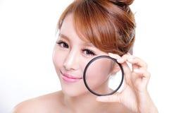 Vérifiez votre peau de santé Photos stock