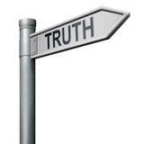 Vérité de trouvaille dans l'honnêteté et justice honnête Photo libre de droits