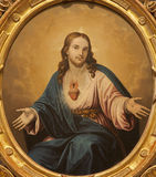 Vérone - coeur de Jesus Christ. Peinture d'église Santa Anastasia Photos libres de droits