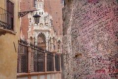 Vérone - détail de mur Photo stock