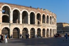 VÉRONE, ITALIE - 24 MARS : Vue de l'arène en Verona Italy dessus image libre de droits