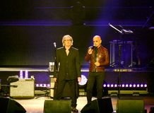 Vérone, Italie - 14 octobre 2017 : Live Concert d'Umberto Tozzi Photos stock