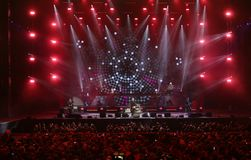 Vérone, Italie - 14 octobre 2017 : Live Concert d'Umberto Tozzi Photographie stock