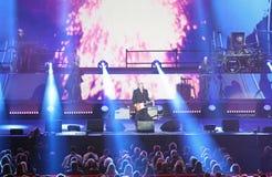 Vérone, Italie - 14 octobre 2017 : Live Concert d'Umberto Tozzi Image stock