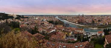 Vérone panoramique Image libre de droits