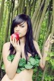 Véspera com uma maçã Foto de Stock