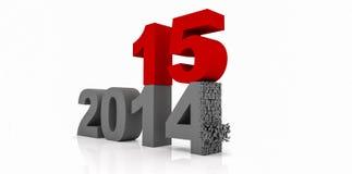 Véspera de ano novo 2015 Fotografia de Stock Royalty Free