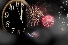 Véspera de Ano Novo Foto de Stock Royalty Free