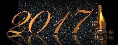 Véspera de ano novo 2017 Imagem de Stock