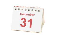 Véspera de ano novo de 31 dezembro Fotografia de Stock Royalty Free